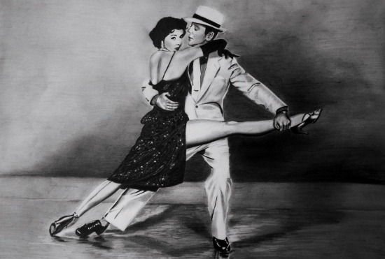 Fred Astaire, Cyd Charisse by steve2656
